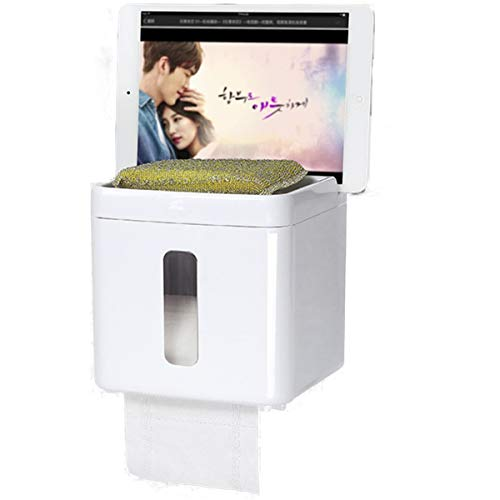 UUOUU Multifunctional Waterproof Tissue Box Holder Bathroom Roll Paper Box Toilet Paper Box Holder
