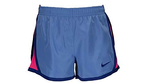 NIKE Girl's Training Shorts Grey/Black Chalk Blue