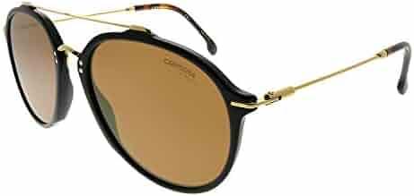 830fea4d48 Carrera 171 S 807 K1 Black Gold Plastic Aviator Sunglasses Gold Mirror Lens