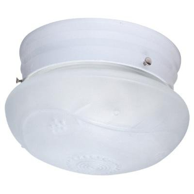 (Sunlite HALL8/WH 8-Inch Mushroom Ceiling Fixture, White Finish with White Glass)