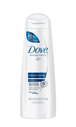 Dove Damage Therapy Intensive Repair Shampoo, 12 Ounce (Pack of 6)