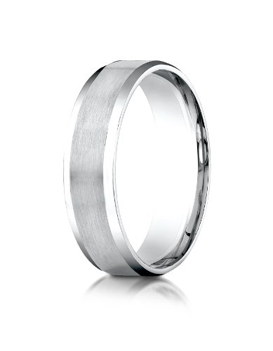 Platinum 6mm Comfort-Fit Satin-Finished with High Polished Beveled Edge Carved Design Wedding Band Ring for Men & Women Size 4 to 15 by PriceRock