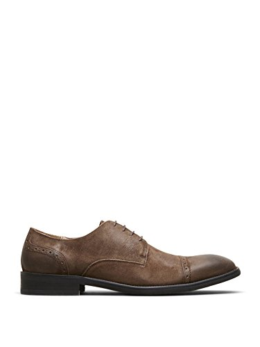 Kenneth Cole New York System-ATIC Burnished Suede Oxford Dark Brown