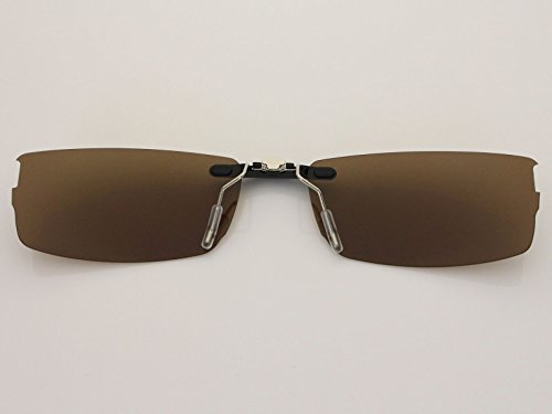 Custom Fit Polarized CLIP-ON Sunglasses For Oakley Halfshock OX3119 55X19 Brown by COODY (Image #2)