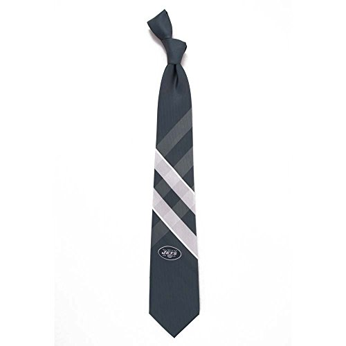 Eagles Wings NFL New York Jets Men's Woven Polyester Grid Necktie, One Size, Multicolor
