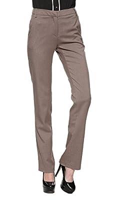 Zealmer Women's Wear To Work Slim Dress Pants