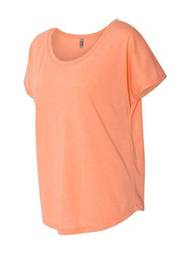 (Next Level Apparel 6760 Lady Tri-Blend Dolman Tee Shirt - Vintage Light Orange, Extra Large)
