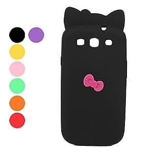 CECT STOCK Bonita Carcasa de Silicona para el Samsung Galaxy S3 i9300 - Colores Surtidos , Negro