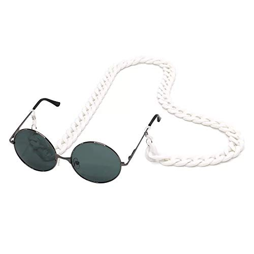 YALEX Eyeglasses Holder Strap Cord -Eyeglass String Retainer Cord -Glasses Lanyard Chain Necklace (white)
