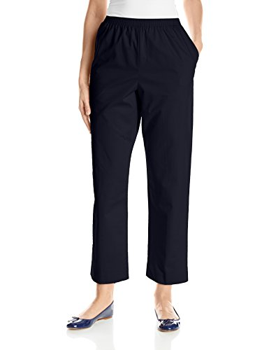 (Alfred Dunner Women's Proportioned Short Twill Pant, Navy,)