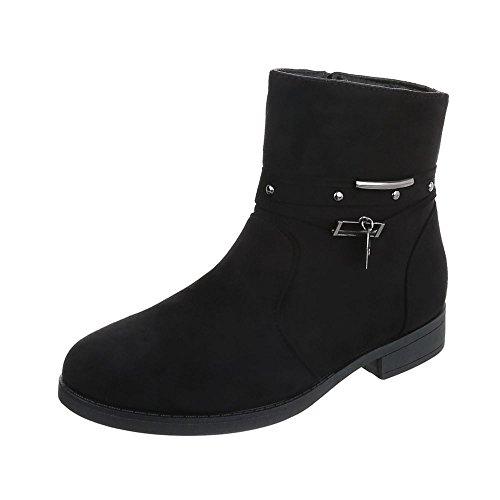 Bottines bottines et Bloc Design femme Chaussures Noir Ital classiques Bottes qXTwapW4xH