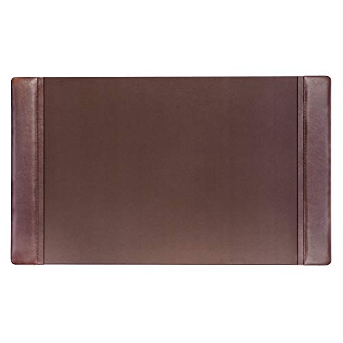 Dacasso Chocolate Brown Leather 34 by 20-Inch Desk Pad with Side Rails ()