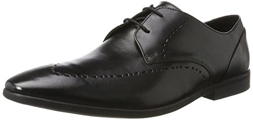 Clarks Uomo Black Limit Nero Bampton Leather Derby HqHtwrU