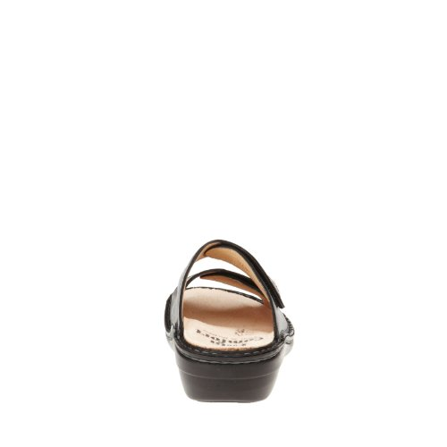 FINNCOMFORT - Zuecos de cuero nobuck para mujer negro negro negro - negro