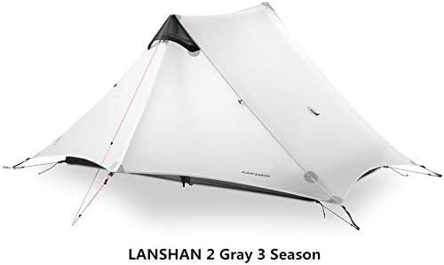 Kampeer Tent 2 Persoon Outdoor Ultralight Camping Tent Stangloze Tent 15D Gray 2 people