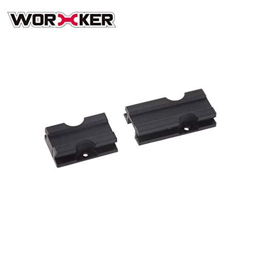 Worker ABS Plastic Grooved Rail Pad Rail Slot Adapter Top Rail Mount Mod...