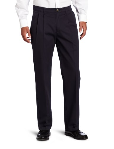 Lee Men's Big-Tall Comfort Waist Custom Fit Pleated Pant, New Navy, 50W x 30L