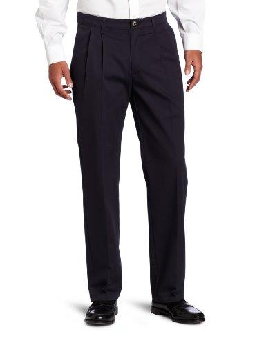 - Lee Men's Big-Tall Comfort Waist Custom Fit Pleated Pant, New Navy, 52W x 28L