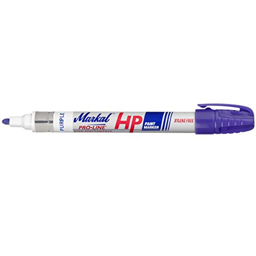"Markal Pro-Line HP High Performance Liquid Paint Marker with 1/8"" Bullet Tip, Purple (Pack of 12)"