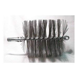 - Flue Brush, Dia 4-1/2, 1/4 MNPT, 7-1/2 In L