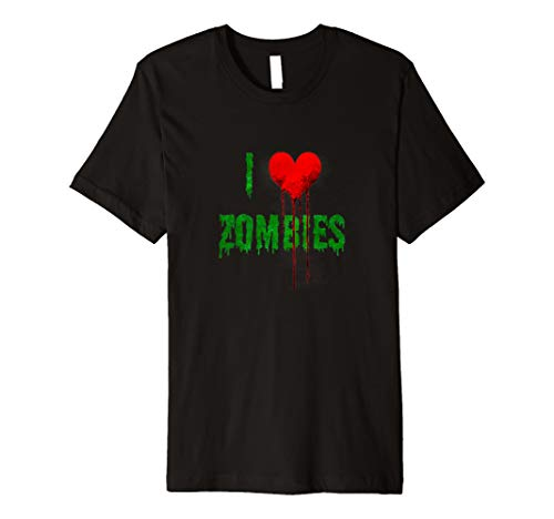 I Love Zombies - dripping Halloween heart and