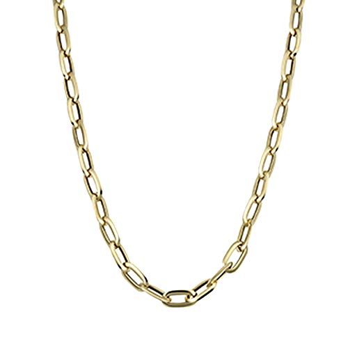 (14k Yellow Gold Fancy Oval Link Necklace 20
