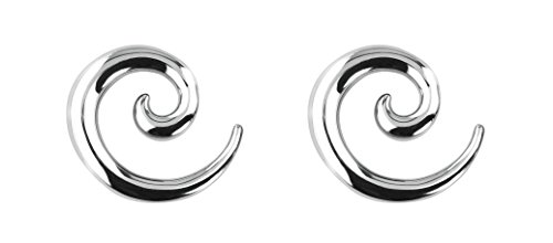 Forbidden Body Jewelry Pair of 2g (6mm) Surgical Steel Solid Spiral Taper Earrings - 10g Body Plugs Jewelry