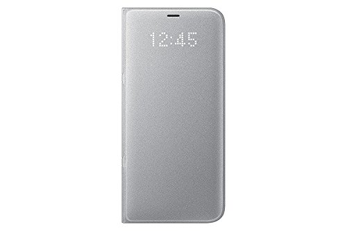 Genuine Samsung LED View Cover Flip Wallet Case for Samsung Galaxy S8+ / S8 Plus - Silver EF-NG955PSEGWW