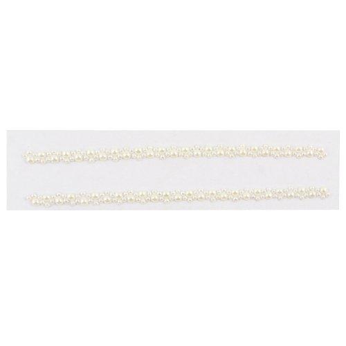 Teléfono celular blanco de Bling Bling de la perla de la decoración de la joyería del pegatina del sello