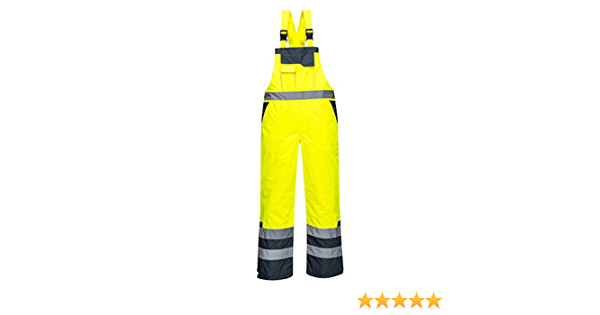 Portwest Contrast Bib /& Brace Lined Overall Coverall Dungarees Work Trousers ANSI E