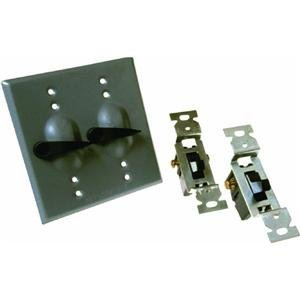 Do it Weatherproof Electrical Cover With Switches GRAY OUTDOR - Outlets Woodburn Or