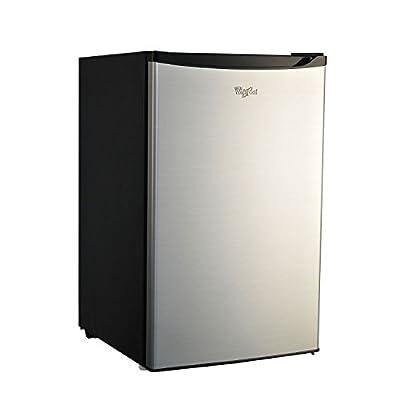 Whirlpool 4.3 CU FT Stainless Steel Compact Refrigerator Mini Fridge