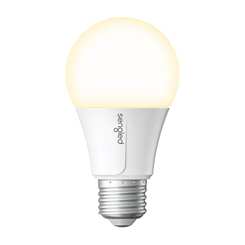 Sengled Smart Wi-Fi LED Soft White A19 Light Bulb, No Hub Required, 2700K, 60W Equivalent, Works with Alexa & Google Assistant, 1 Pack