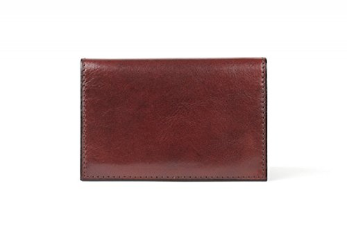 Bosca Men's Old Leather Calling Card Case (Dark Brown)