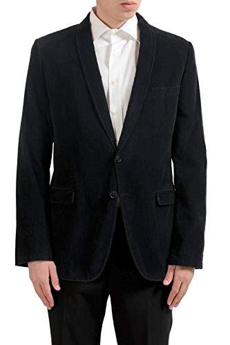 Dolce & Gabbana Men's Corduroy Black Vintage Look Blazer Sport Coat US 38 IT 48