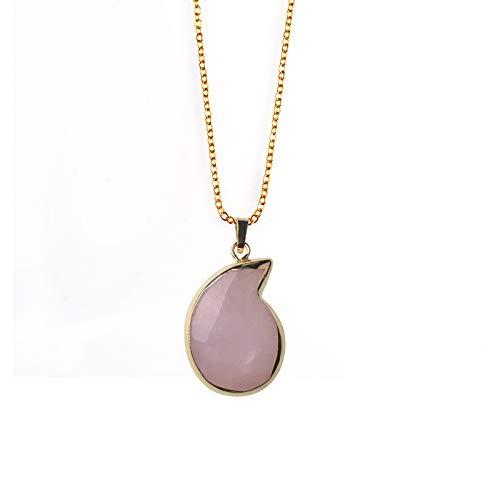 - Crystal Pendant Necklace | Ammonite Shape | Natural Stone/Tiger Eye | Women Fashion Jewelery