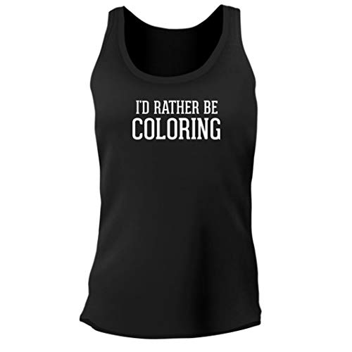 Tracy Gifts I'd Rather Be Coloring - Women's Junior Cut Adult Tank Top, Black, XX-Large