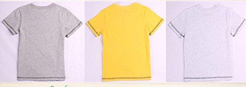 Plog Kids Baby Mountain Tiger Tshirt Big Animal Face Graphic Tee (2t, yellow)