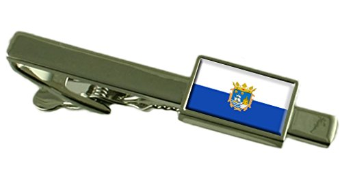 Santander City Spain Flag Tie Clip