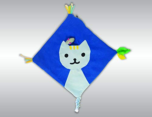 Kitty Cat Mat, the cat toy that's perfectly square, that makes your kitty play, snuggle and feel loved when you're not there!