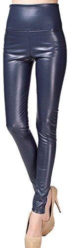 Simplicity Womens High Waist Leather Leggings