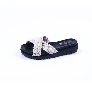 Wome's sandalias Primavera Verano PU Confort vestir casual Chunky tal¨®n US7.5 / EU38 / UK5.5 / CN38