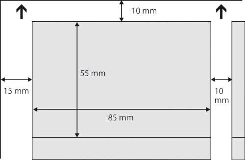 SIGEL DP830 Visitenkarten hochweiß, 150 Stück (15 Blatt), 185 g, 85x55 mm - weitere Stückzahlen