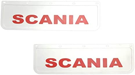 cami/ón cami/ón Guardabarros de goma resistente color blanco con remolque cami/ón 60 x 18 cm 2 unidades