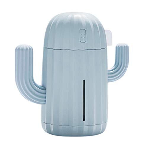 Yu2d  340ML Mini Creative Cactus Air Diffuser Home Office Car Portable Air Humidifier (Blue)]()