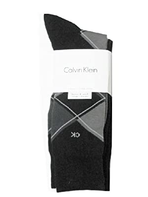 Calvin Klein Men's Dress Socks - 4 Pair, Black/gray