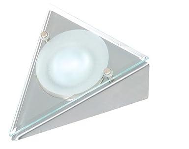 Forma de Triángulo Undershelf/armario lámpara de techo con cristal embellecedor, trgl-ss: Amazon.es: Iluminación