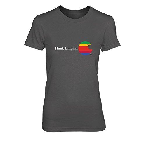 Think Empire - Damen T-Shirt, Größe: XL, Farbe: grau