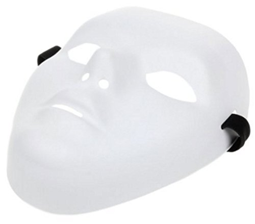 Hip-hop Dancer Mask for Halloween Masquerade Party/ Cosplay - White