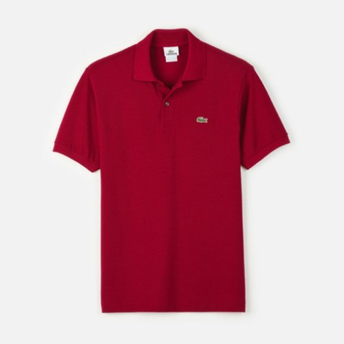Lacoste Men's Short Sleeve Pique L.12.12 Classic Fit Polo Shirt, Bordeaux, 7